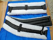 Horse Or Mule Fleece Harness Saddle And Breast Collar Pads Set Amish Made White