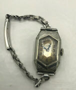 Vintage Illinois Womenand039s Wrist Watch Manual Wind - Not Working