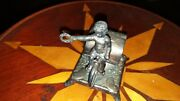 Antique Sports Child Bicycle Silver/silverplate Figural Napkin Ring Adelphi 11