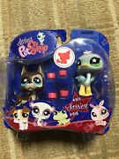 Littlest Pet Shop Sassiest Great Dane And Ostrich Set 818 And 817 Nib