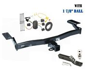 Class 3 Trailer Hitch Package W 1 7/8 Ball For 2007-2010 Ford Edge, Lincoln Mkx