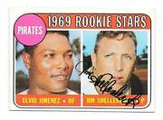 Jim Shellenback 1969 Topps Autographed Signed 567 Pirates