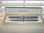 Vintage 14k Gold Sheaffer Fountain Pen And Pencil Set W/ Box And Instructions