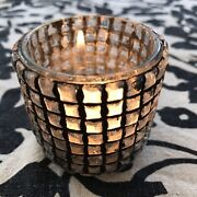 Crate And Barrel Wrought Iron/glass Candle Holders. Set Of 15.