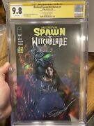 Medieval Spawn / Witchblade 1 Cgc Ss 9.8 Unknown Comics Lucio Parrillo Signed