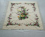 Antique Chinese Beautiful Flowers Wall Hanging Panel 203x165cm
