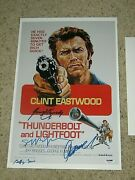 Clint Eastwoodgeorge Kennedyjeff Bridges+1 Signed 11x17 Movie Poster Psa/dna