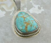 J. Wilson Morning Star Gallery Navajo Silver Turquoise Pendant Signed Circa 1980