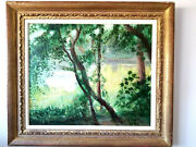 Andre Vignoles Original French Oil Painting On Canvas