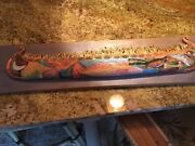 Handcarved Wooden Boat Plaque By Simpson Gallery Signed