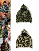 A Bathing Ape X Gore-tex Men's Down Jacket With Hood 1st Camo Fastship Japan Ems