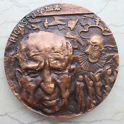 1997 China 80mm Copper Medal - Western Artists Series - Pablo Picasso