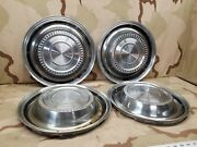 4 1974 1975 International Pick Up Truck Wheel Hub Caps Oem 15