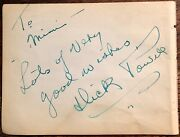 Dick Powell Autographed Signed Album Page 1934 Dames Pitfall Gold Diggers