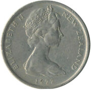Coin / New Zealand / 5 Cent 1972   Wt8750