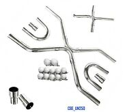 Universal T304 Ss 2.5 Exhaust System Builder X-pipe Tubing Kit Ls Engine Swap
