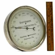 Antique 6 Advertising Thermometer Pat 1888 Davidson Heating And Construction Co