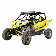 Yamaha Yxz1000r 50 Caliber Racing Roll Cage Custom Rear Bumper Utv Tire Rack New