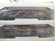 New Mth North Pole Christmas 4-car 60and039 Streamlined Passenger Set W/led Lights