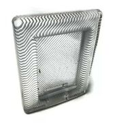 """Mikasa Japan Heavy Striped Textured Glass Free Standing Photo Frame 4.5""""x3"""" A10"""