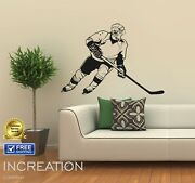 Children Room Hockey Player Vinyl Wall Decor Sticker Removable Murals Decal Logo