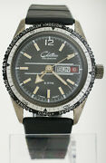 Vintage 1960s Chateau Calendar World Time Dive Watch 5 Atm Diver Day Date 36mm