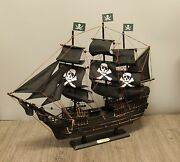 24in Wicked Wench Pirates Of The Caribbean Jack Sparrow Wood Vintage Model Ship