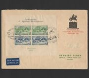 Poland 1938 Scb29 Fdc Perf Registered Air Mail Special Cancellation