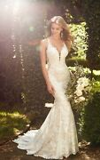 Wedding Dress With Elegant Lace, Beading And Sequins. Retail 3400