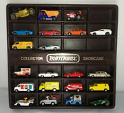 Matchbox Hot Wheels Tomica Lesney 1970and039s 21 Toy Car Lot + Collector Showcase