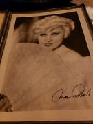 Mae West And George Raft Signed Photos