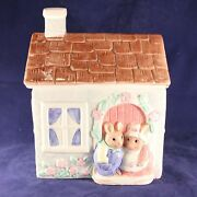 1989 Easter Farm House Cookie Jar By The Good Company