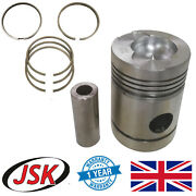 6pc Piston Set Std With Rings And Pins For Leyland 600 / O.600 Engines 4.8 Bore