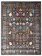 Oushak Netural Brown Hand Knotted Traditional Antique Style Silk Wool Area Rugs