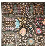 New Oushak Multi Brown 9and039x12and039 Ft Handknotted Persian Antique Silk And Area Rugs