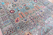 Neutral Oushak Larisa Wool And Bamboo Silk Handmade Oriental Area Rugs And Carpet