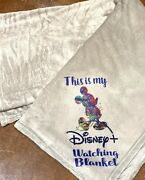 This Is My Disney Plus Watching Blanket 50x60 Inches Light Gray Sublimation