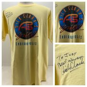 Dick Clark Autographed American Bandstand Grill Shirt Rock N Roll Diner Vtg Xxl