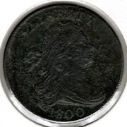 1800 Draped Bust Large Cent - Choice Vf