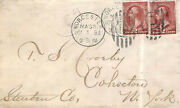 210 2c Washington With Two Singles Tied By First Day October 1 1883 [352898]