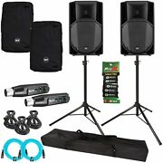 Rcf Art 735-a Mk4 15 Active 2-way Dj Pa Speakers + Stands + Bluetooth Receivers