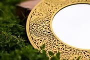 Premium Brass Mirror Islamic Art Hand Forged And Etched Antique Handmade