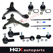 10pc Control Arm W/ball Joint Sway Bar Tie Rod Ends For Honda Civic Acura El