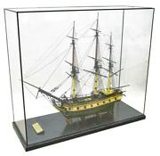 Model Ship Large Glass Case And039the Ann And Hopeand039 Awesome Home Decor Macn Cave