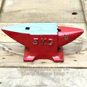 Antique Red Heavy Iron Anvil Blacksmith Making Tool Collectible 5kg