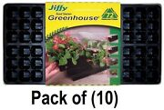 10 Pack Jiffy T72h 72 Cell Greenhouse Plant Seed Starter Tray Kits 11 X 22