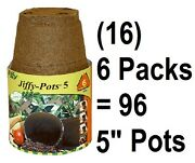 16 Ea Jiffy Jp506 6 Pack 5 Round Seed Starting Peat Pots