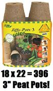 18 Ea Jiffy Jp322 22 Pack 3 Round Seed Starting Peat Pots