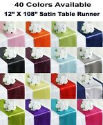 10 Satin Table Runners Sash Wedding Party Banquet Decoration 12x108 -free Ship