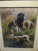 Mick Cawston - A Stunning Pastel Featuring Hunting Dogs